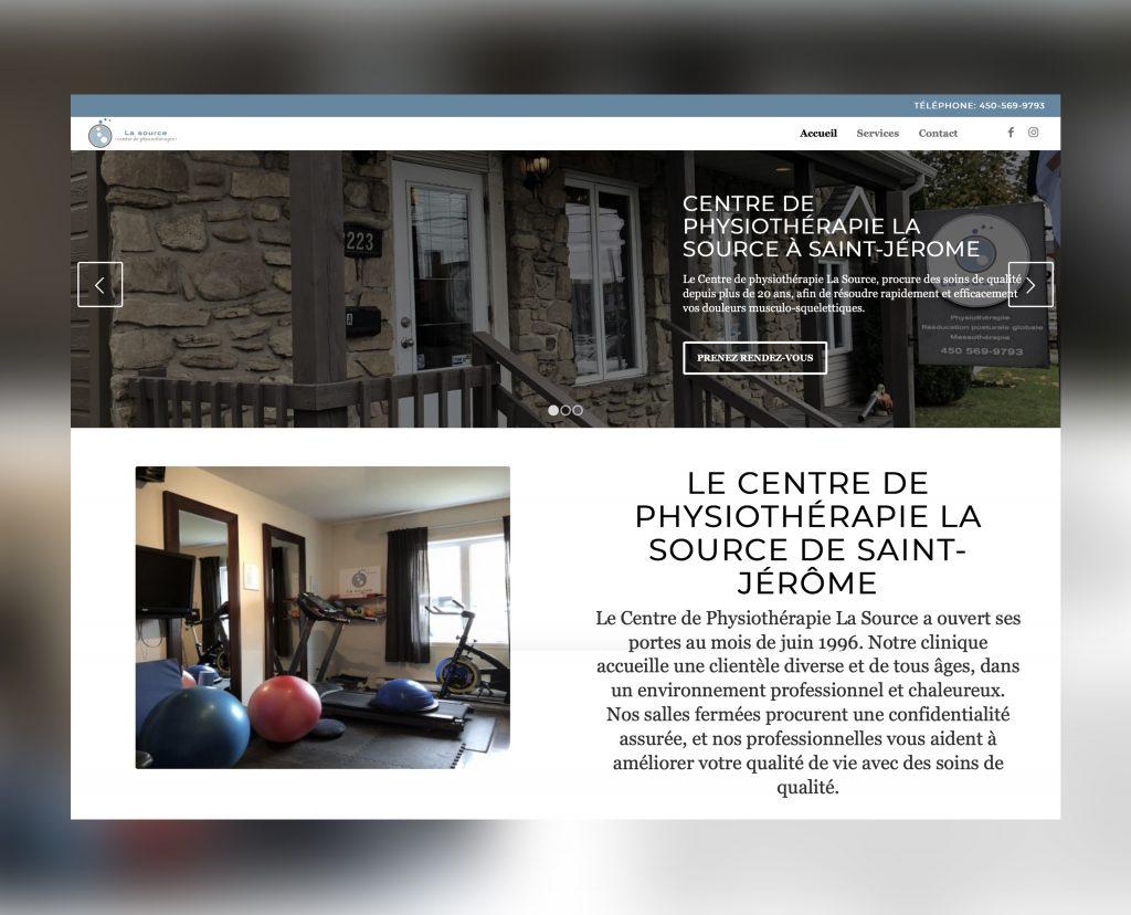 Site web Physiothérapie La Source de St-Jérôme.