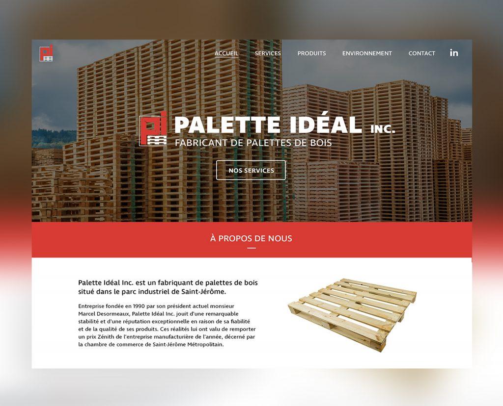 Site web de Palette Idéal Inc.
